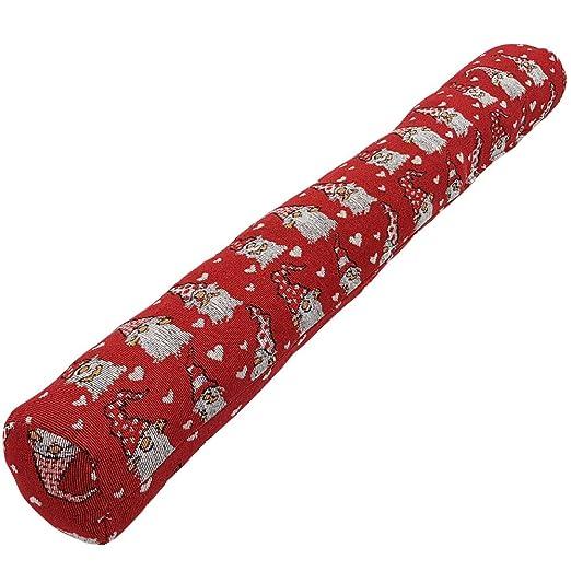 SunDeluxe Burlete de bajo de Puerta, cojín Tope para Puertas navideño 90 x 10 cm - Burlete de Navidad para Ventana o Puerta con Divertido diseño, ...