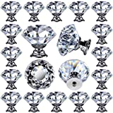 26 pcs Glass Cabinet Knobs Crystal Drawer Pulls