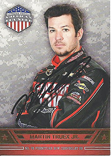 AUTOGRAPHED Martin Truex Jr. 2014 Wheels American Thunder (#78 Furniture Row Racing) Signed Collectible NASCAR...