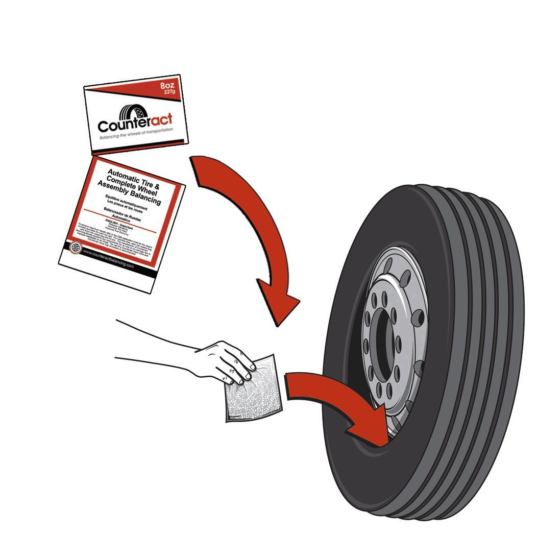 Counteract DIYK-1012 Tire Balancing Beads Semi Kit - 10oz&12oz DIY Kit (116oz) by Counteract