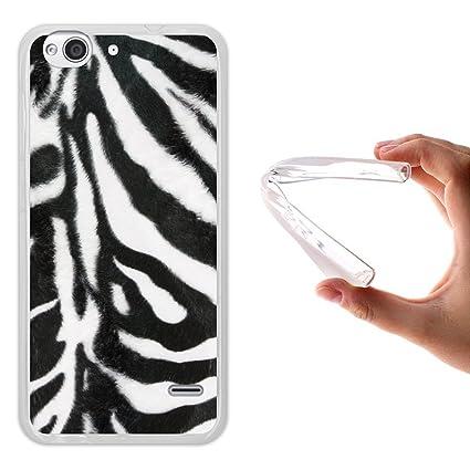 WoowCase Funda para ZTE Blade S6, [ZTE Blade S6 ] Silicona Gel Flexible Animal Skin Estampado Cebra, Carcasa Case TPU Silicona - Transparente
