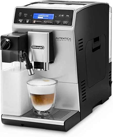 DeLonghi Autentica Cappuccino - Cafetera Superautomática, Depósito para Leche, Espumador de Leche, Recetas Automáticas, Pantalla LCD y Panel Táctil, 1450 W, ETAM 29.660.SB, Plata: Amazon.es: Hogar