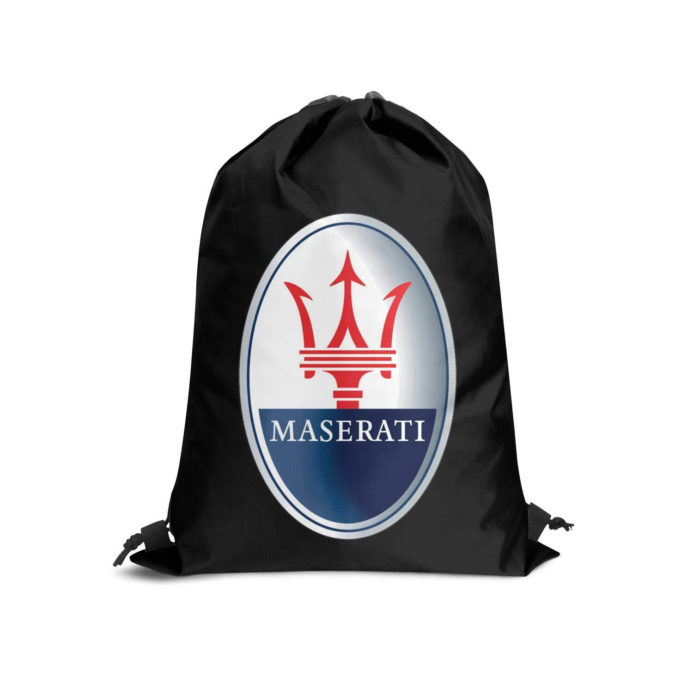 INIYIWA Black Fashion Drawstring String Backpack Bag Gym Cinch Tote Sack Travel Womens