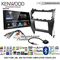 Volunteer Audio Kenwood DMX7704S Double Din Radio Install Kit with Apple CarPlay Android Auto Bluetooth Fits 2012-2013 Non Amplified Toyota Camry
