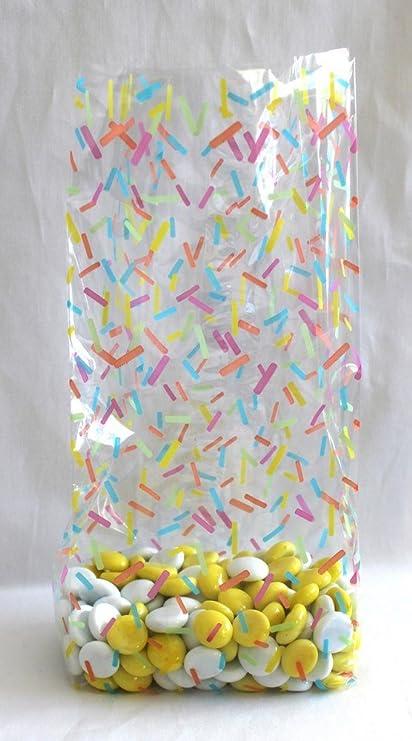 Amazon.com: Candy Sprinkles bolsas de celofán – Pack de 25 ...