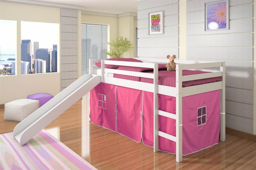 Kids Bunk Bed With Slide. Amazon.com: Twin Tent Loft Bed With Slide