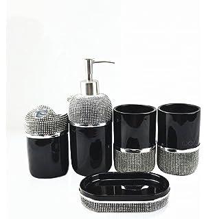 Amazon.com: AMSS 5 Piece Stunning Bathroom Accessories Set in ...