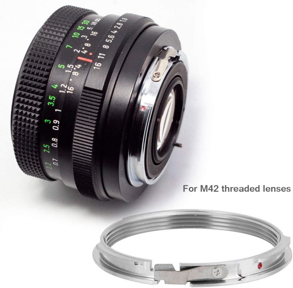 M42-PK Adapter Ring Manual Focus Lens Adapter Ring for M42 Threaded Lenses for Pentax Camera