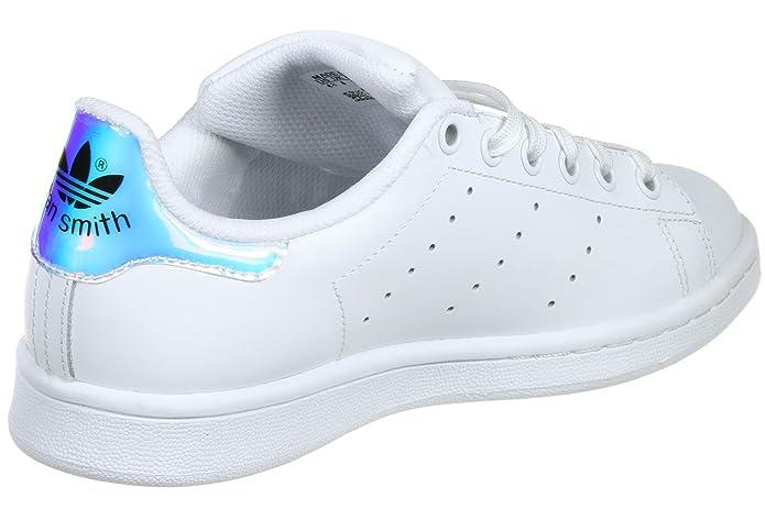 adidas Stan Smith J, Chaussures de Fitness Garçon, Multicolore (Ftwwht/Metsil/Ftwwht Aq6272), 36 EU