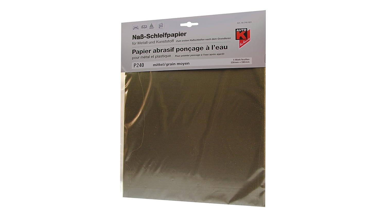 230x280mm Auto-K Nass-Schleifpapier-Set 2x P240 2x P400 1x P600