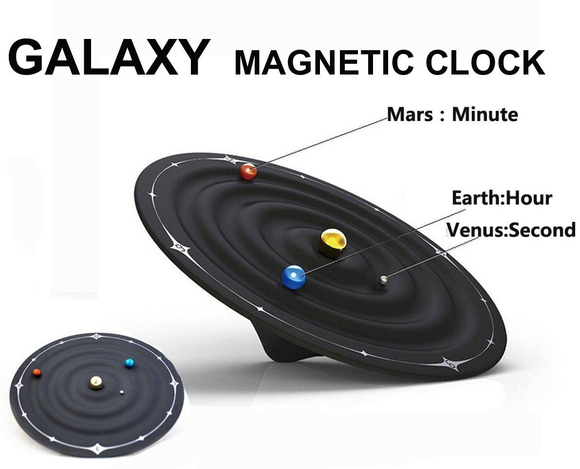 besplore Galaxy磁気時計、壁時計、デスクトップクロック、ブラック ZM-XXSZ B071GFF1M1 A1-galaxy Magnetic Clock A1-galaxy Magnetic Clock