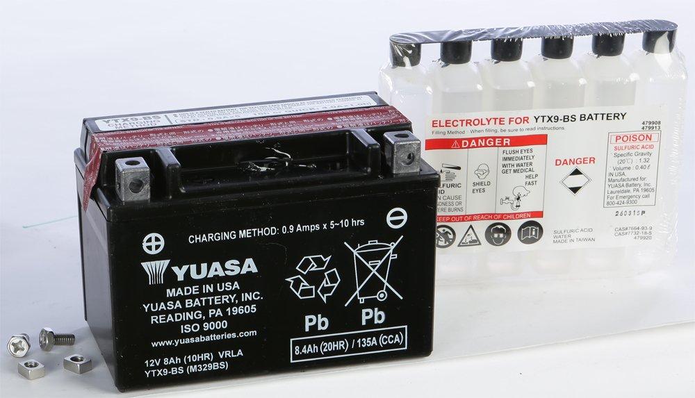 Amazon Yuasa Maintenance Free Battery Ytx9 Bs Yuam329bs Plt