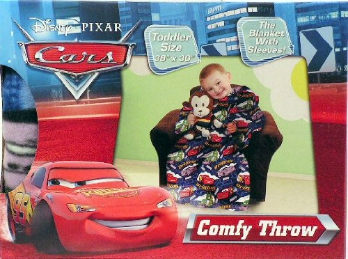 Disney Cars Comfy Throw Blanket with Sleeves ~ Toddler Size ~ Lightning Mcqueen