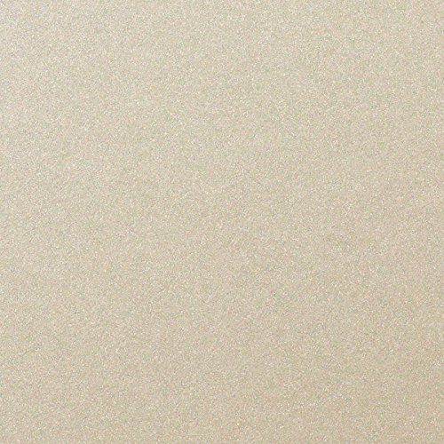 Beige Sand Shimmery Metallic Cardstock, 8 1/2 x 11 (50 Sheets) from Paper and More
