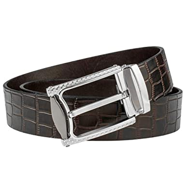 Amazon.com: Mancala - Cinturón de piel para hombre, color ...
