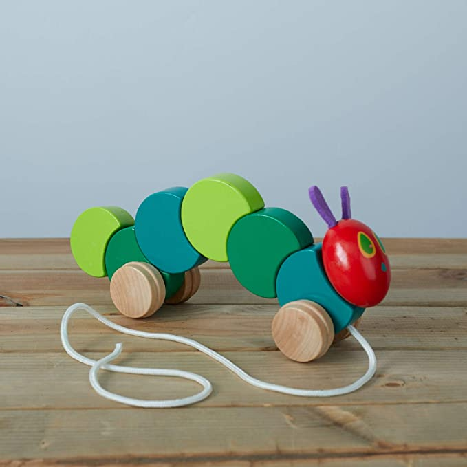 Christmas Gift For Kids Kids Toy Kids Gift Wood Toy PushPull Toy Monarch Caterpillar WoodWooden Caterpillar Toy