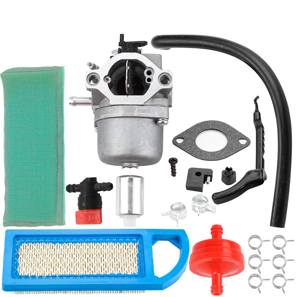Carburetor & Air Filter Fuel Filter Shut Off Valve Carb Kit for Briggs & Stratton 698620 799727 794572 791858 792358 793224 697190 697141 14hp 15hp 16hp 17hp 17.5 HP 18hp Craftsman Lawn Tractor Mower