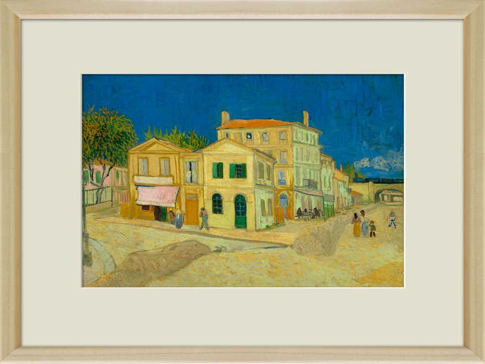 Creative 3D Visual Effect Wall Mural The Yellow House by Van Gogh ...
