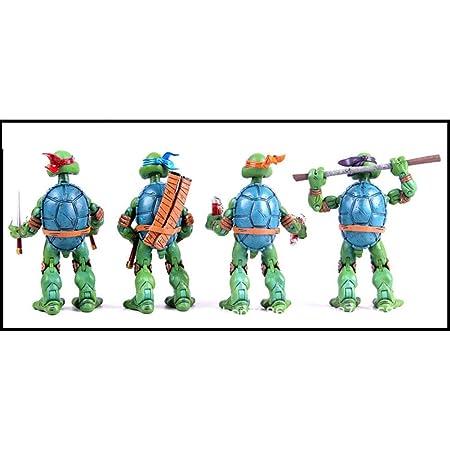 wssd Modelo de Juguete de 4 Modelos De Escultura Ninja ...