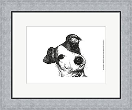 Amazon.com: Robbie the Jack Russell by Beth Thomas Framed Art Print ...
