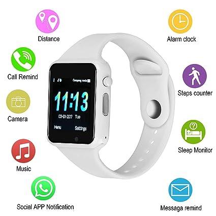 Amazon.com: SUNETLINK Reloj inteligente con pantalla táctil ...