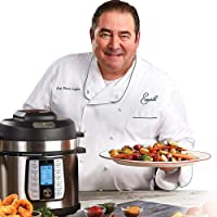 Emeril Everyday 8-Quart 1550-Watt Electric Pressure Air Fryer with 5-Piece Accessories Pack (Silver)