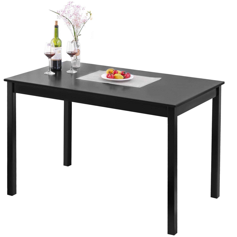 Merax 47'' Rectangular Dinning Table in Dark Espresso 100% New Zealand Pine Wood Finish