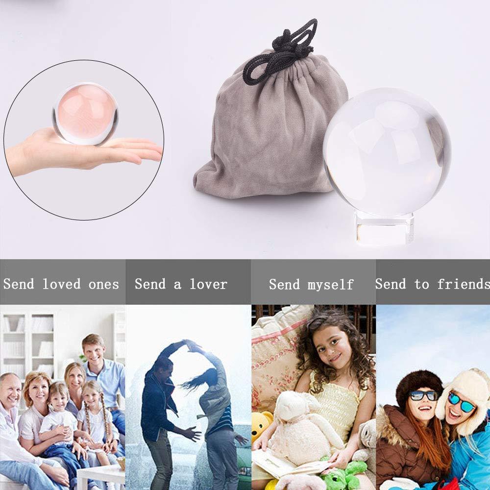 110 mm Cristallo Kioneer 6cm 2.36in ideale come ornamento e decorazione per la casa o per una festa Sfera di cristallo trasparente con supporto