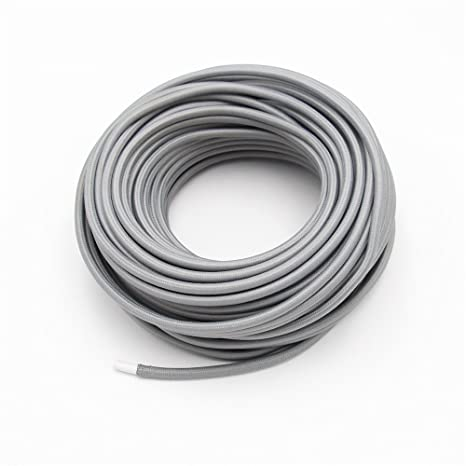 Reachyea - Cable de estilo vintage para lámpara de techo colgante - 3 mx 0,75 mm², gris