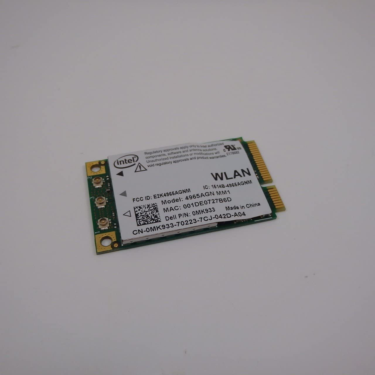 Genuine Dell XPS M1330 M1530 m1730 Latitude D620 D630 Inspiron E1705 1525 Intel MK933 4965AGN WIFI Link Dual Band PCI-E MIMO Laptop Notebook Card