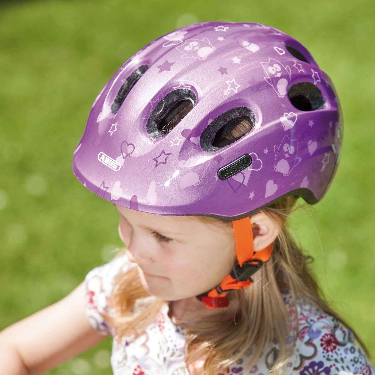 Abus Smiley 2.0, Casco da Bicicletta Bambina purple star
