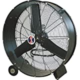 Q Standard Industrial Direct-Drive Drum Fan, 30In., 1/2 Hp, 9100 Cfm
