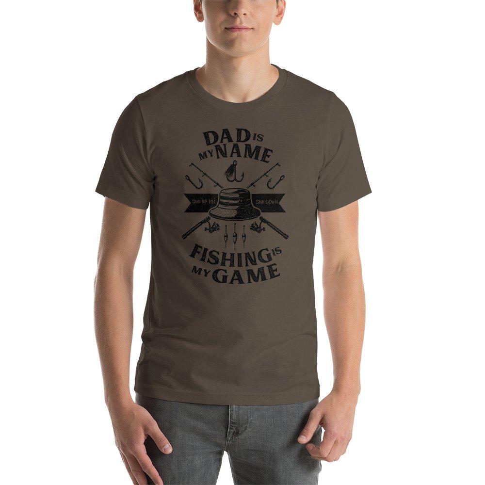 Short-Sleeve Unisex T-Shirt SleeplessLady Fishing Dad