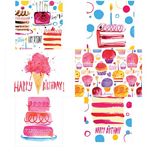 60 Postcards - Perfectly Painted Birthday - 6 Different Images