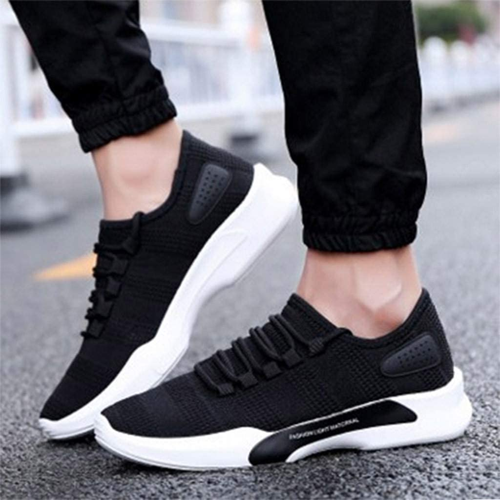 SFE Mens Solid Color Versatile Casual Shoes Low to Help Breathable Sneakers Shoes