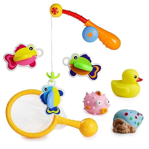 31 opinioni per Bagno Giocattolo Galleggiante con Giochi Rete da Pesca 8 Pezzi Set per i Bambini
