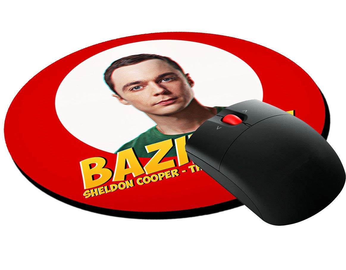 Tappetino per mouse tondo Bazinga, Sheldon Cooper, The Big Bang Theory TBBT serie tv inspired