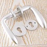 Daeou European split lock aluminum space solid wood door locks interior mechanical locks bedroom door handle handle lock