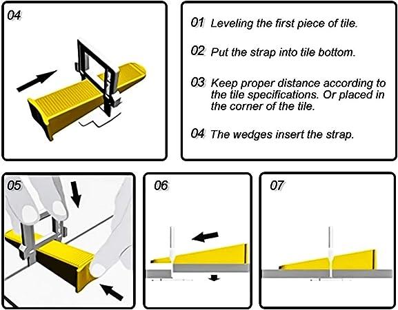 baldosas para Piso de Pared espaciadores de nivelaci/ón de Azulejos cu/ñas Xueliee Nivelador de posicionamiento de Azulejos en Forma de T