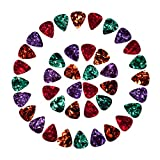 Antner 40 Pcs Celluloid Guitar Picks Includes Thin, Medium, Heavy & Extra Heavy Gauges
