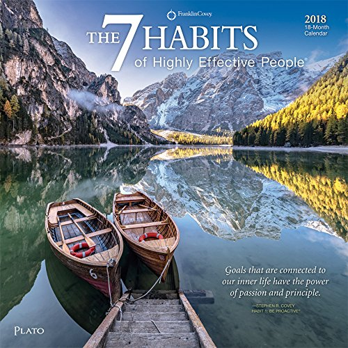 7 Habits of Highly Effective People, The 2018 12 x 12 Inch Monthly Square Wall Calendar with Foil Stamped Cover by Plato, Self Help Improvement (Multilingual Edition)