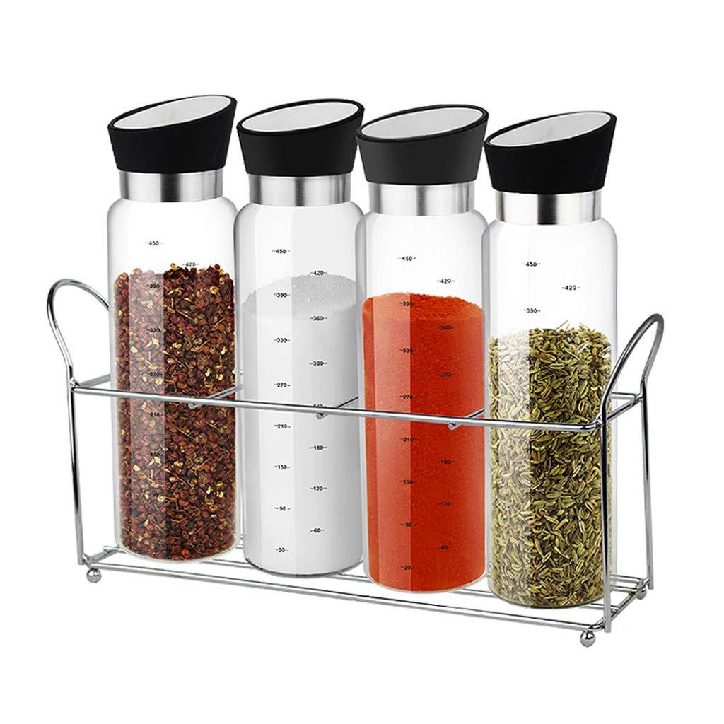 ZFDM Glass Cruet Seasoning Jar Chicken Salt Pepper Jar Condiment Box Kitchen Supplies (Size : B)