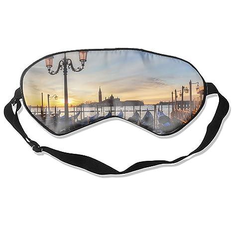 Máscara de dormir de seda con sombra de ojos veneciana Lagoon Italia Adriatic Sea transpirable suave