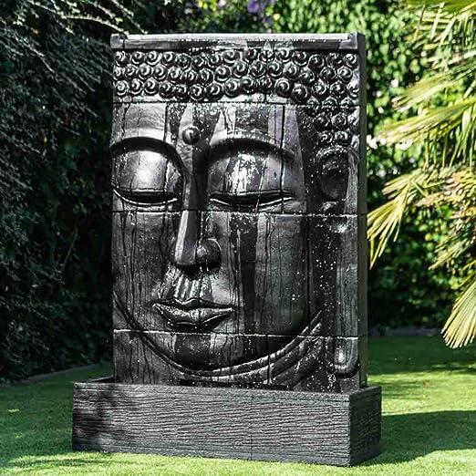 Wanda collection Fuente Grande de Exterior Pared de Agua Rostro de Buda 1,80 m: Amazon.es: Jardín