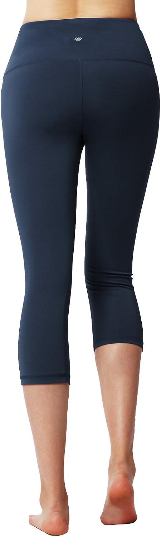 XS-3XL Navy 3XL ACTICLO Plus Size Womens High Waist Tummy Control Sports Running Yoga Capris Hidden Pocket
