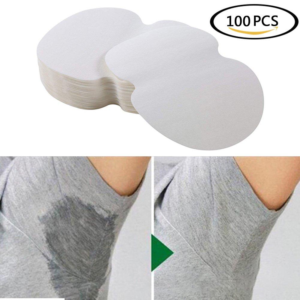 Beautyonline 100pcs (50 Pair) Underarm Sweat Pads Disposable Armpit Sweat Pads Perspiration Pads Sweat Free & Odor Free for for Women Men Kids Adults