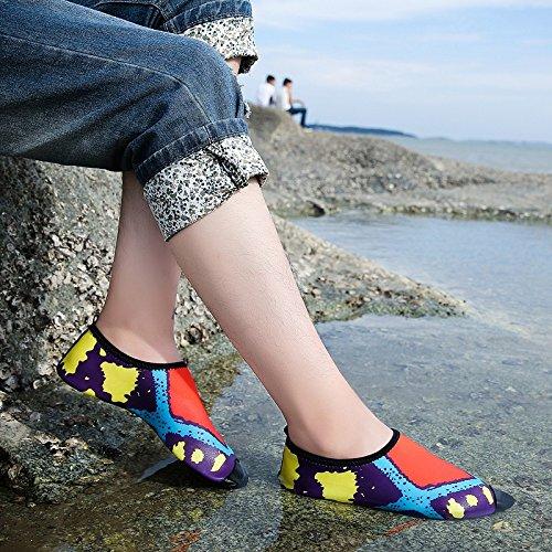 Humasol Heren Dames Lichtgewicht Sneldrogende Aqua Schoenen Multifunctionele Watersokken Voor Zwemmen Strand Zwembad M-rood