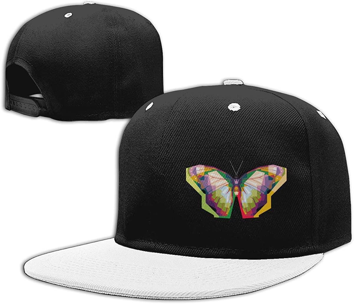 Butterfly Adjustable Hip Hop Baseball Caps Women Men Hiphop Cap