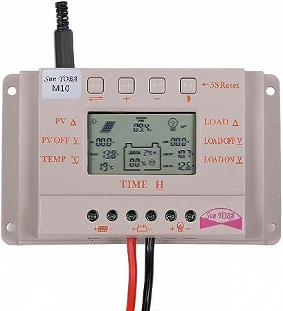 20a Régulateur de Charge 12v 24v Gramme Solaire Photovoltaïque Module Panneau
