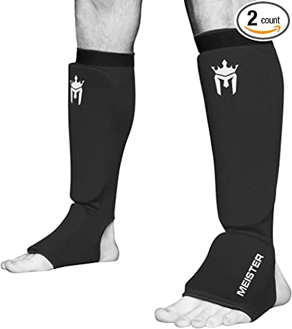 Combat Sports Washable MMA Elastic Cloth Shin /& Instep Padded Guards
